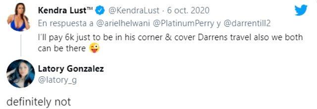 Kendra Lust'ın kafes dövüşçüsü Perry'ye para teklif etti! Dövüşçünün sevgilisi, kabul etmedi