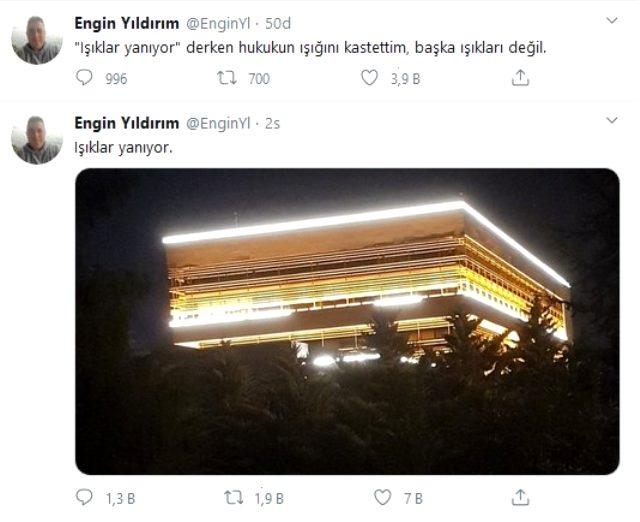 Ankara'yı ayakalndıran olay! AYM üyesinin 'ışıklar yanıyor' tweetin tepki yağıyor