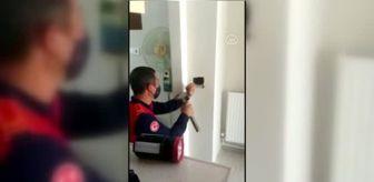 Kırıkkale: Baca deliğine düşen yavru kediyi itfaiye ekipleri kurtardı