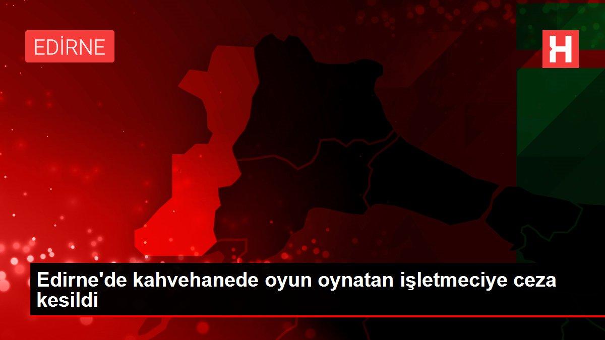 Son dakika haberleri! Edirne'de kahvehanede oyun oynatan işletmeciye ceza kesildi