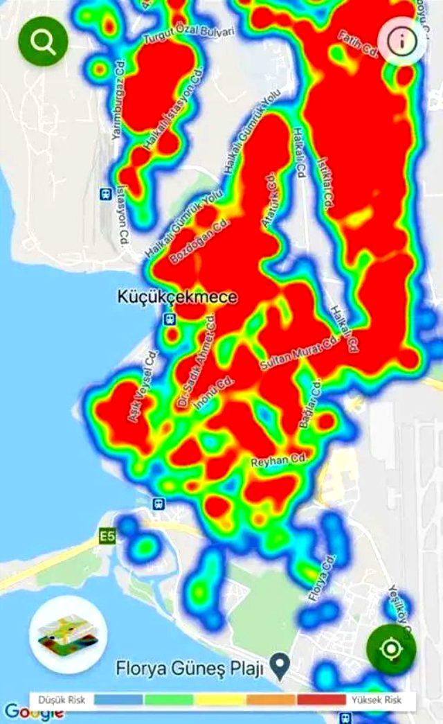 En tehlikeli ilçeler hangisi? İşte İstanbul'un koronavirüs yoğunluk haritası