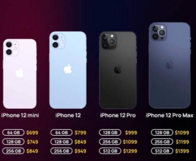 İşte Apple'ın bu gece tanıttığı iPhone 12 ailesinin model model yurt dışı satış fiyatları