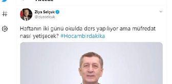 Ziya Selçuk: Milli Eğitim Bakanı Selçuk'tan 'HES kodu sistemiyle güvendesiniz' paylaşımı