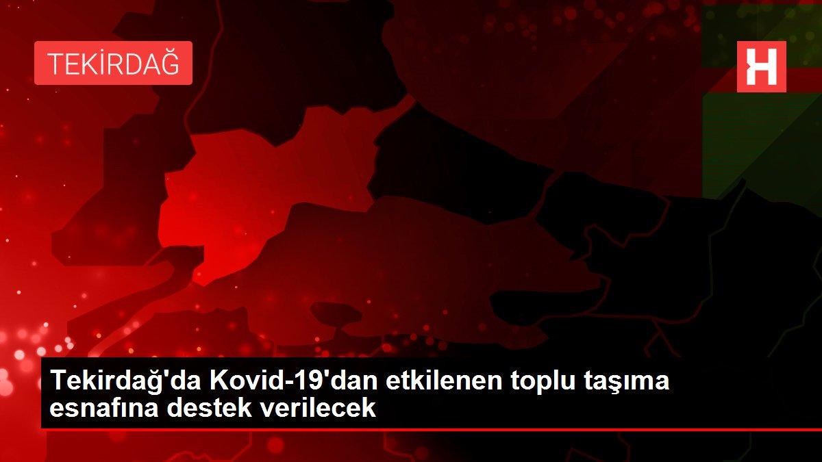Tekirdağ'da Kovid-19'dan etkilenen toplu taşıma esnafına destek verilecek