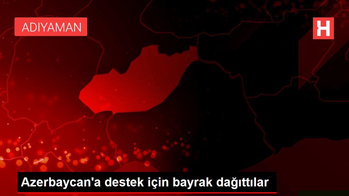 Azerbaycan'a destek için bayrak dağıttılar