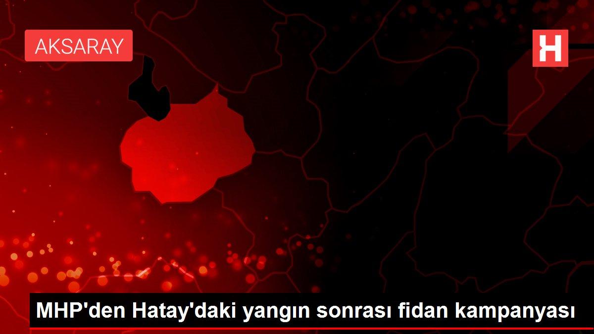 Son dakika: MHP'den Hatay'daki yangın sonrası fidan kampanyası