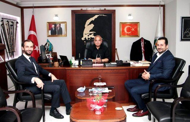 Sezgin Kaya Başkan Bozkurt'u  ziyaret etti