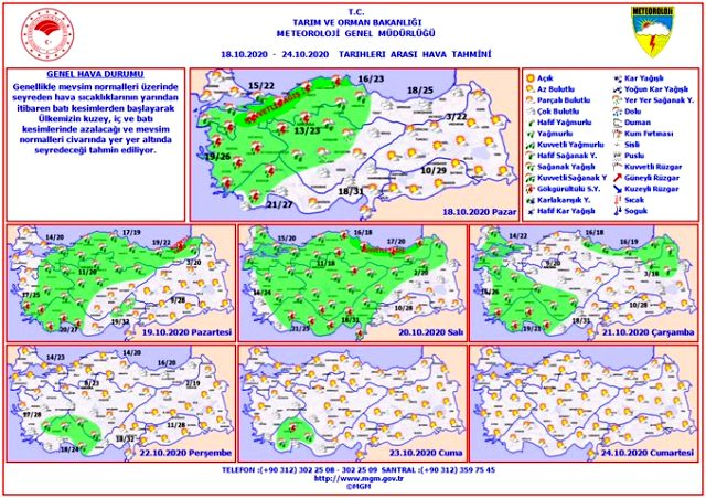 18 Ekim yağmur yağacak mı? Yarınki hava nasıl olacak? İstanbul, Ankara hava durumu   Dolu var mı? 18 Ekim hava durumu