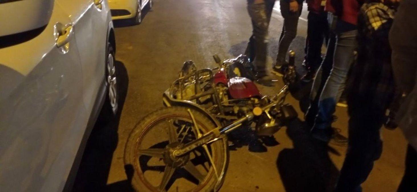 Ağır yaralanan motosiklet sürücüsü Sivas'a sevk edildi