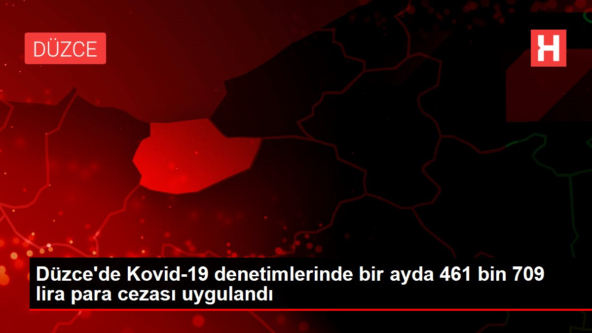 Düzce'de Kovid-19 denetimlerinde bir ayda 461 bin 709 lira para cezası uygulandı