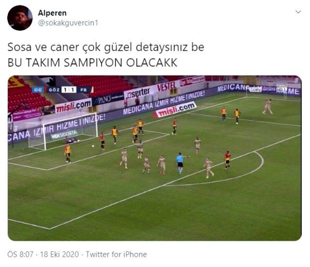 F.Bahçe'de Caner Erkin ve Jose Sosa'nın gol sevinci, Göztepe maçına damga vurdu