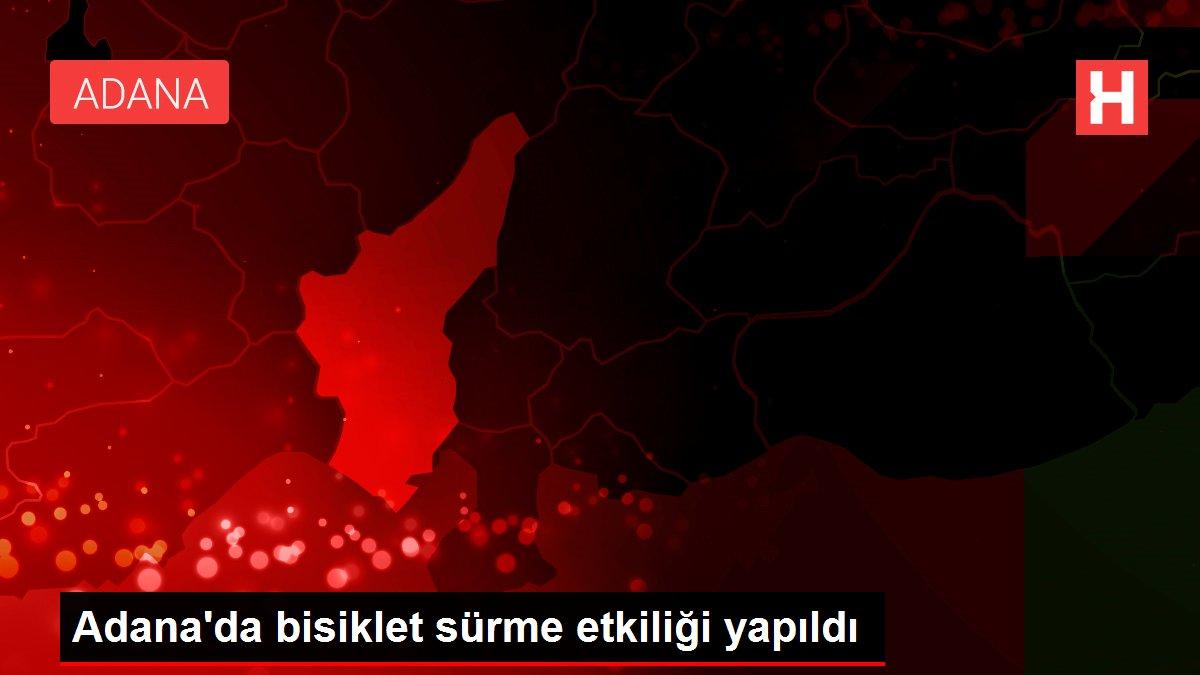 Adana'da bisiklet sürme etkiliği yapıldı
