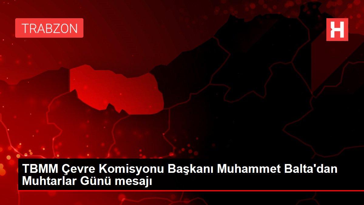TBMM Çevre Komisyonu Başkanı Muhammet Balta'dan Muhtarlar Günü mesajı