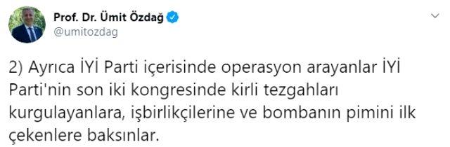 İYİ Parti'de FETÖ kavgası büyüyor! Ümit Özdağ'dan Akşener'e yanıt gecikmedi: Bombanın pimini çekenlere baksın