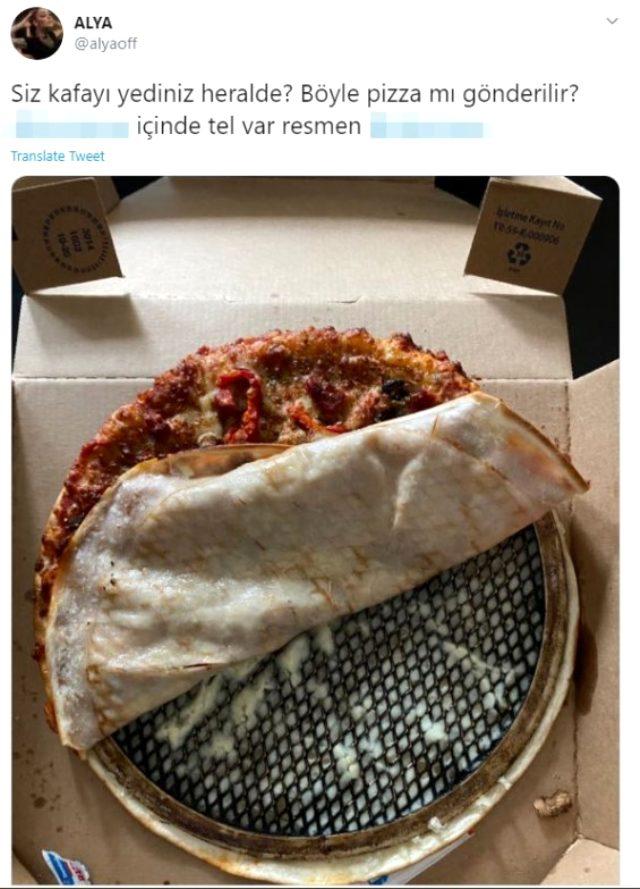 Sipariş verdiği pizzadan tel çıkan şarkıcı Alya, isyan etti: Kafayı yediniz herhalde