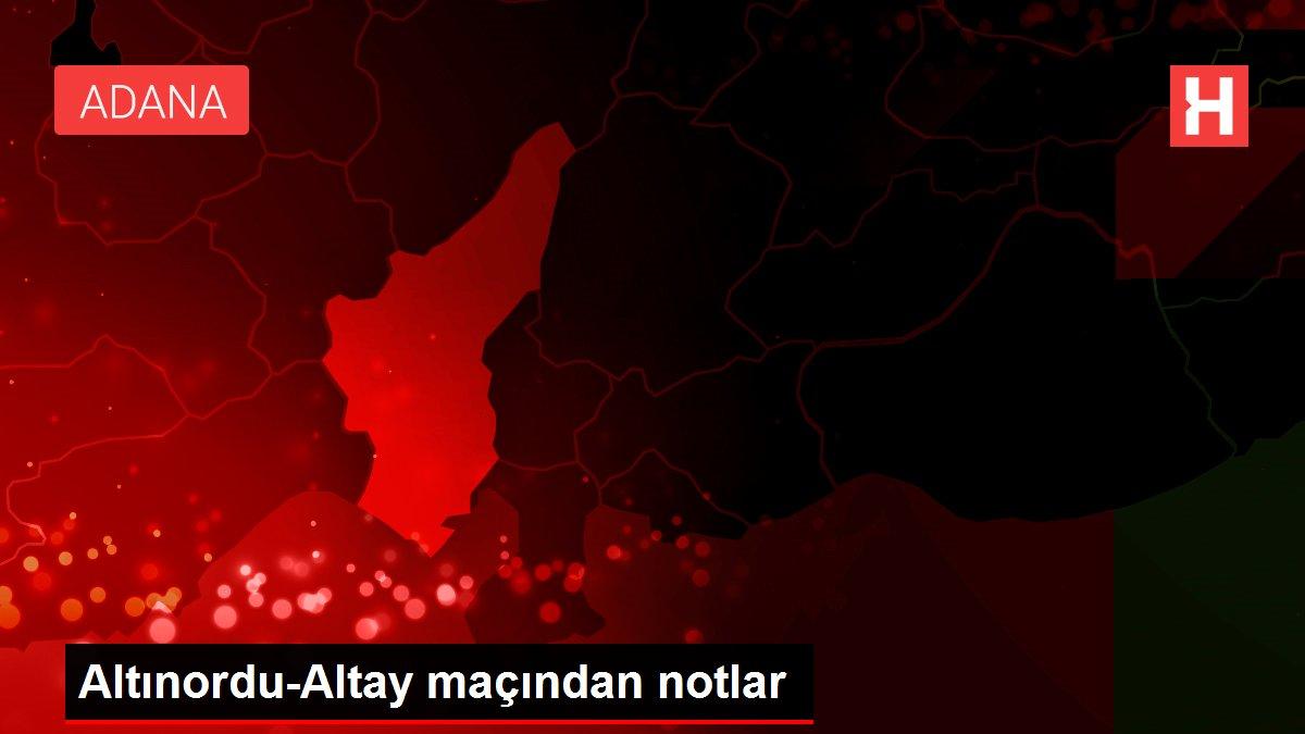 Altınordu-Altay maçından notlar