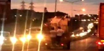Murat Erat: Son dakika haber: Arnavutköy'de kamyonete tutunarak yapılan tehlikeli yolculuk kamerada