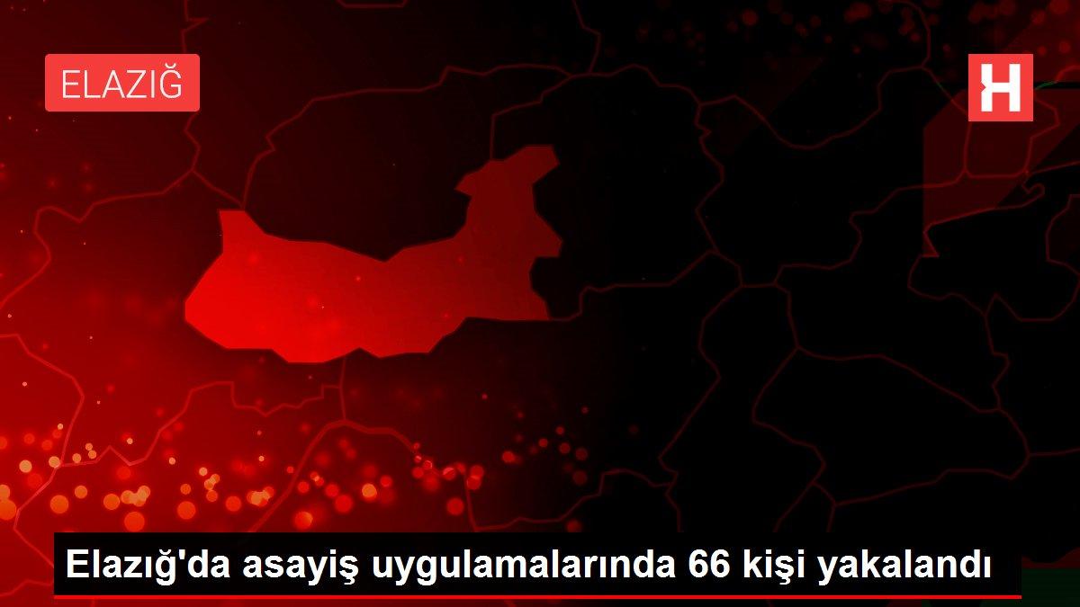 Elazığ'da asayiş uygulamalarında 66 kişi yakalandı