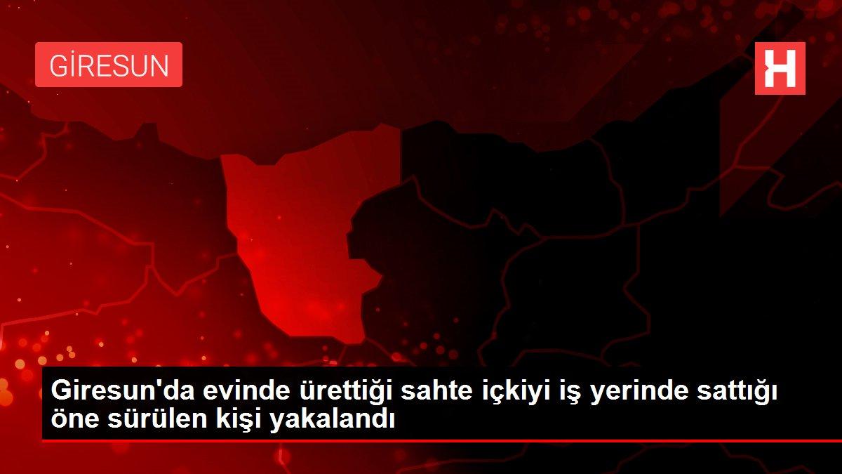 Giresun'da evinde ürettiği sahte içkiyi iş yerinde sattığı öne sürülen kişi yakalandı
