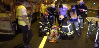 Taşeron: Kuzey Marmara Otoyolu'nda otomobil kablo yüklü kamyonete çarptı: 5 yaralı
