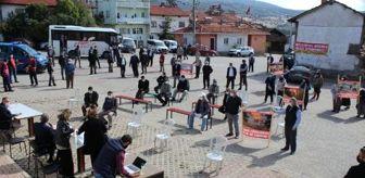 Kütahya: Mermer ocağı istemeyen Domaniçlilere Çevre ve Şehircilik Müdürlüğü'nden destek