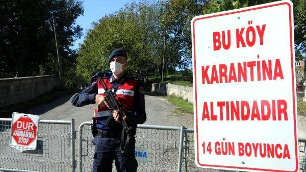 23 kişinin koronaya yakalandığı köy, karantinaya alındı