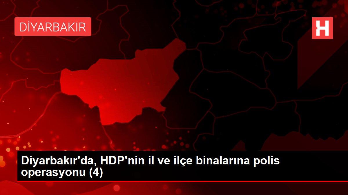 Son dakika gündem: Diyarbakır'da, HDP'nin il ve ilçe binalarına polis operasyonu (4)