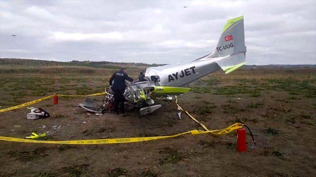 Düşen uçağın enkazından çıkarılan pilotaj öğrencisi, kuleden acil iniş için izin istemiş