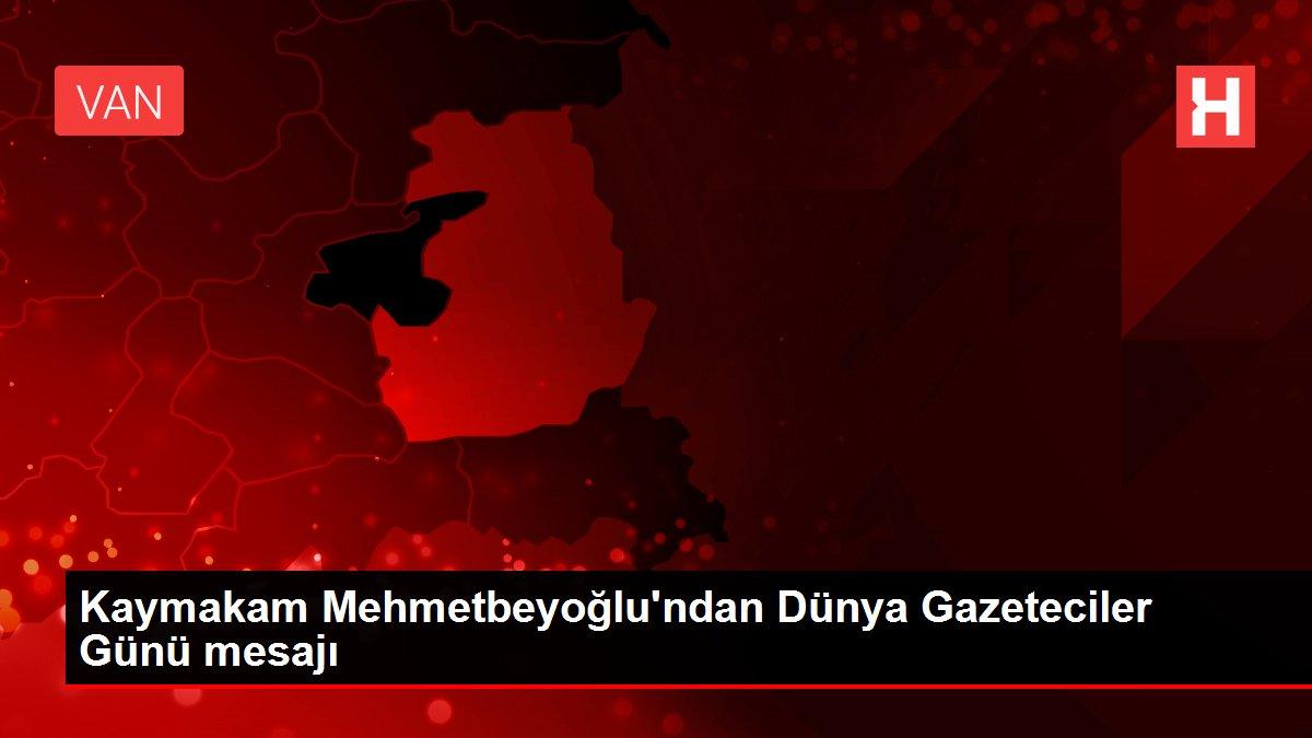 Kaymakam Mehmetbeyoğlu'ndan Dünya Gazeteciler Günü mesajı
