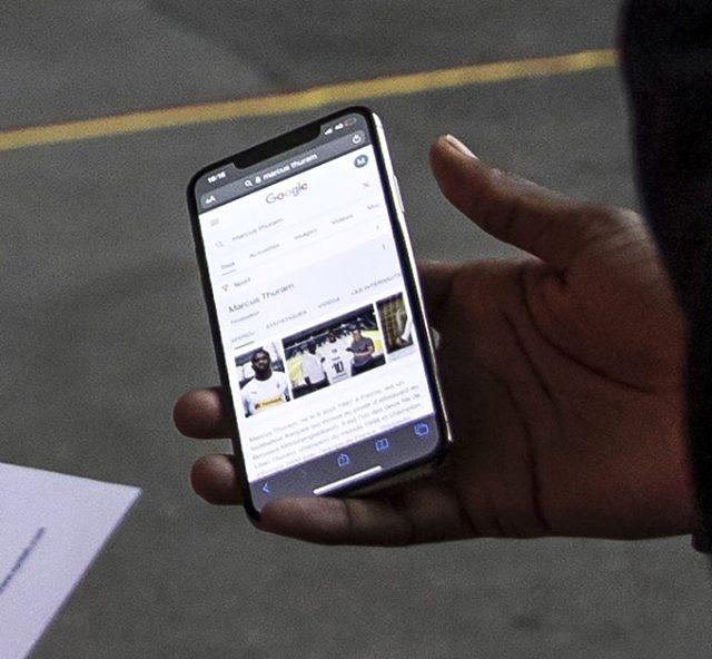 Marcus Thuram, kendisini tanımayan güvenlik görevlisine Google'dan fotoğraflarını gösterdi