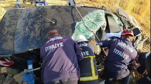 Son dakika haberleri | Nevşehir'de otomobil şarampole devrildi: 1 ölü, 2 yaralı