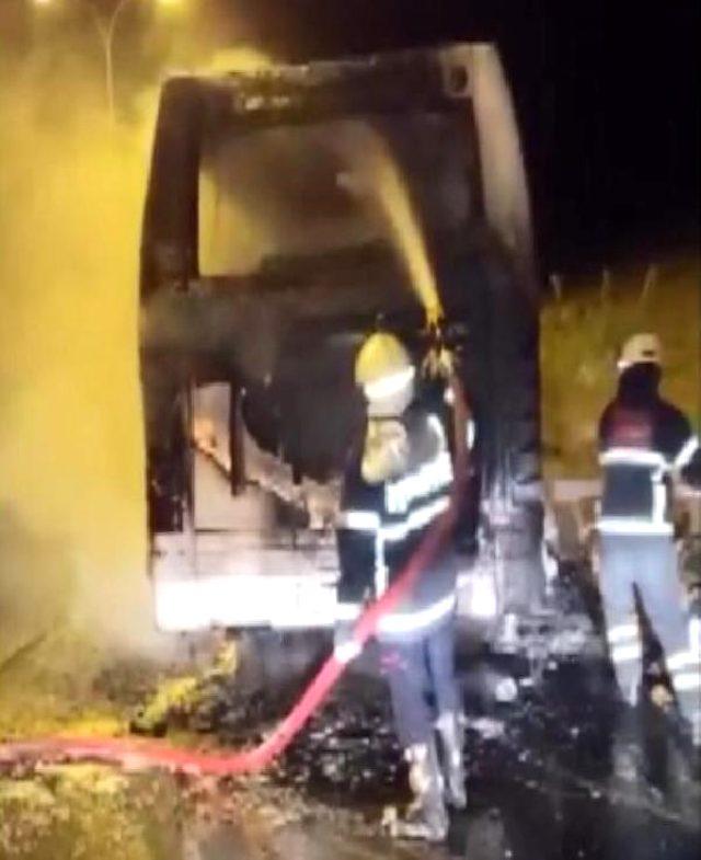 Şanlıurfa'da servis otobüsünde yangın çıktı! 15 kişi son anda kurtuldu