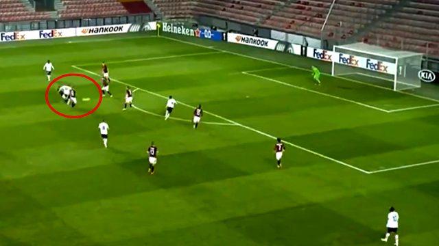 Yusuf Yazıcı, Sparta Prag karşısında Lille'in ilk golünü attı