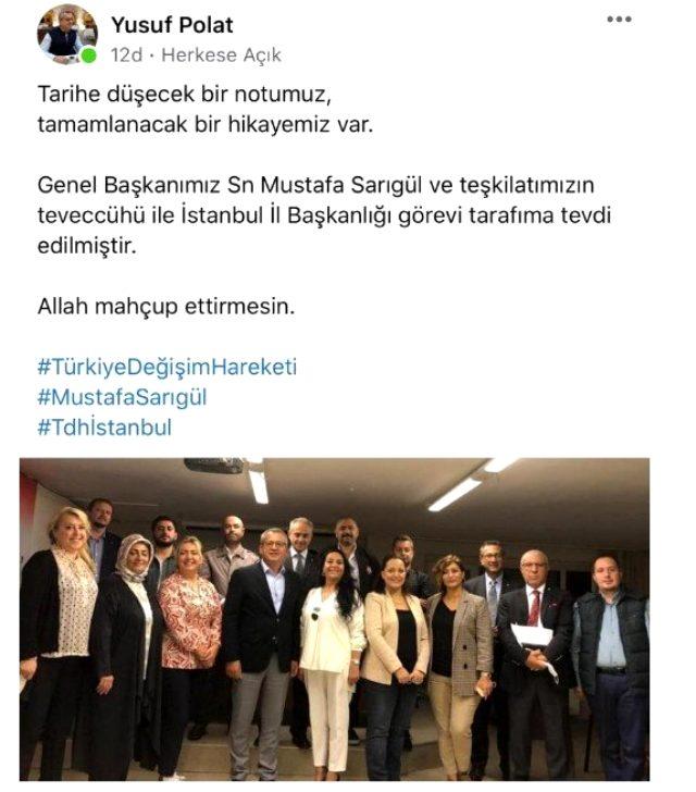 Mustafa Sarıgül yeni parti çalışmalarını hızlandırdı! Yusuf Bolat İstanbul İl Başkanlığına getirildi