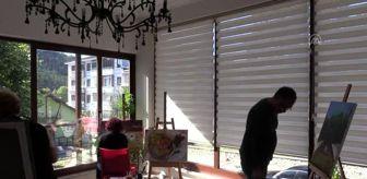 Kastamonu: Türk, Bulgar ve Makedon ressamlar 'yeşil Azdavay'ı tuvallerine yansıtıyor - KASTAMONU