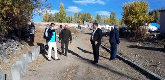 Ergüder Toptaş: Akyaka'da mahalle araları yollar yapılıyor