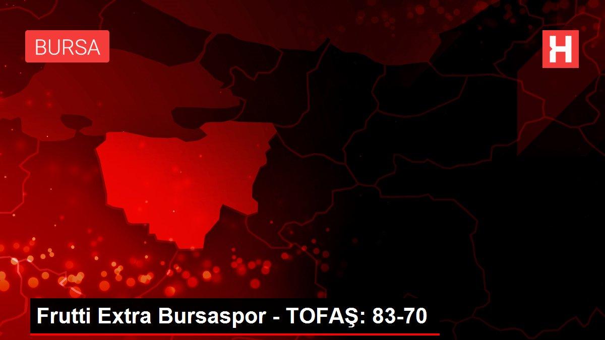 Son dakika haberi... Frutti Extra Bursaspor - TOFAŞ: 83-70