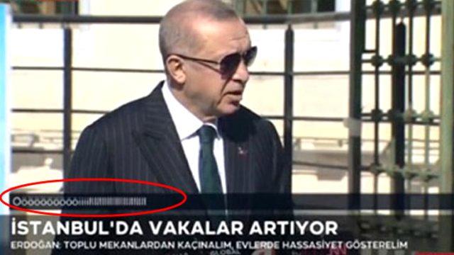 TRT'den, Erdoğan'ın konuşması sırasında ekranda çıkan ifadeyle ilgili açıklama
