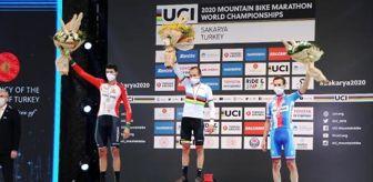 Sakarya: 2020 Dünya Dağ Bisikleti Maraton Şampiyonası'nda ödüller verildi