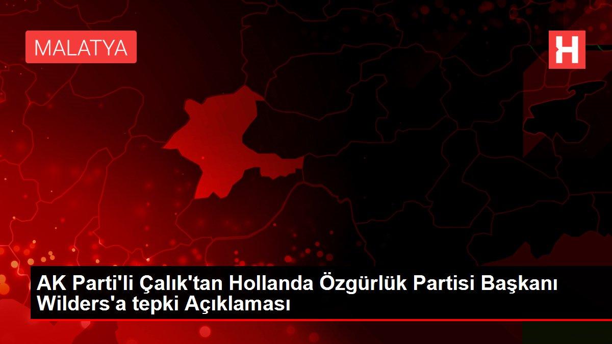 AK Parti'li Çalık'tan Hollanda Özgürlük Partisi Başkanı Wilders'a tepki Açıklaması