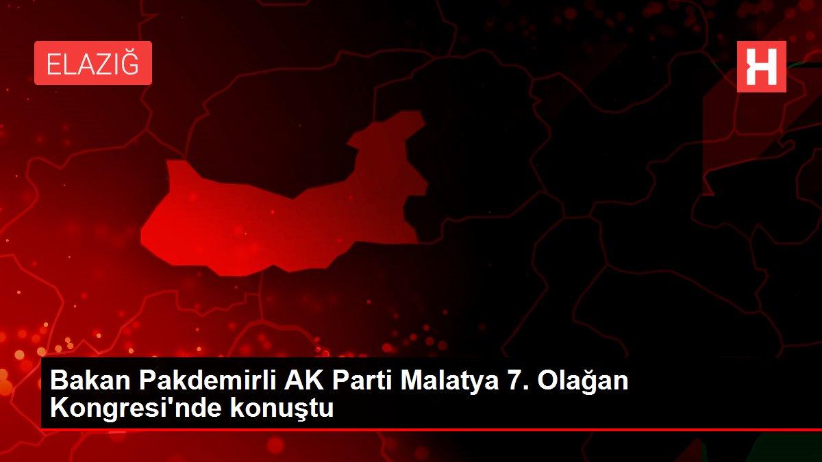 Bakan Pakdemirli AK Parti Malatya 7. Olağan Kongresi'nde konuştu