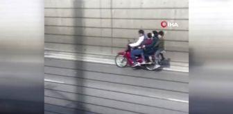 Bursa da motosiklet üzerinde tehlikeli yolculuk