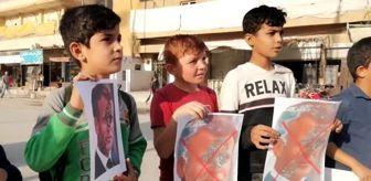 Şanlıurfa: Fransa Cumhurbaşkanı Macron, Suriye'de protesto edildi - TEL