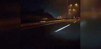 Hasdal: Hasdal-Kemerburgaz yolunda ters yönden giden araç şoku