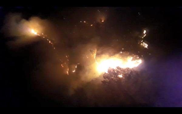 Kahramanmaraş'ta yıldırım isabet eden 15 hektar orman alanı yandı