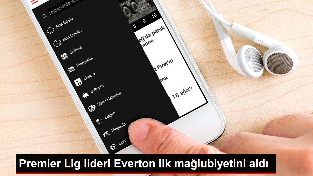 Premier Lig lideri Everton ilk mağlubiyetini aldı