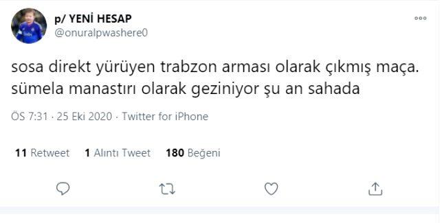 Sosa'nın Trabzonspor maçındaki hatası ve performansı F.Bahçe taraftarının tepkisini çekti