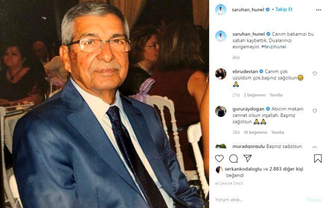 Aslıhan Hünel ve Saruhan hünel'in babaları koronavirüs nedeniyle hayatını kaybetti