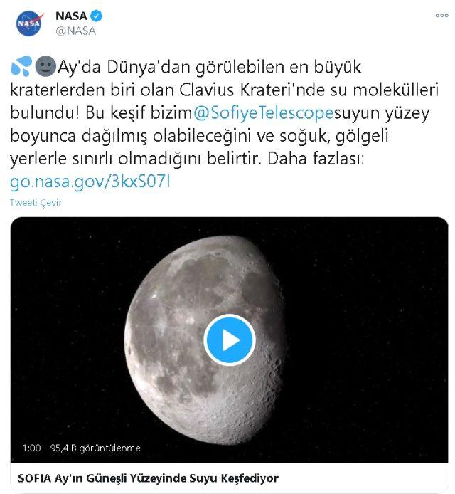 Ay'da ilk kez su bulundu! NASA tarafından Ay'da bulunan su nerede yer alıyor? Ay'ın neresinde su bulundu? Kim buldu?