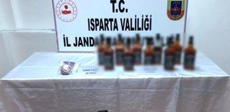 Isparta: Isparta'da jandarmadan uyuşturucu ve sahte içki operasyonu
